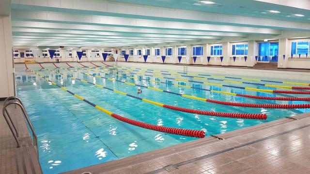 중원대학교 수영장 모습입니다.