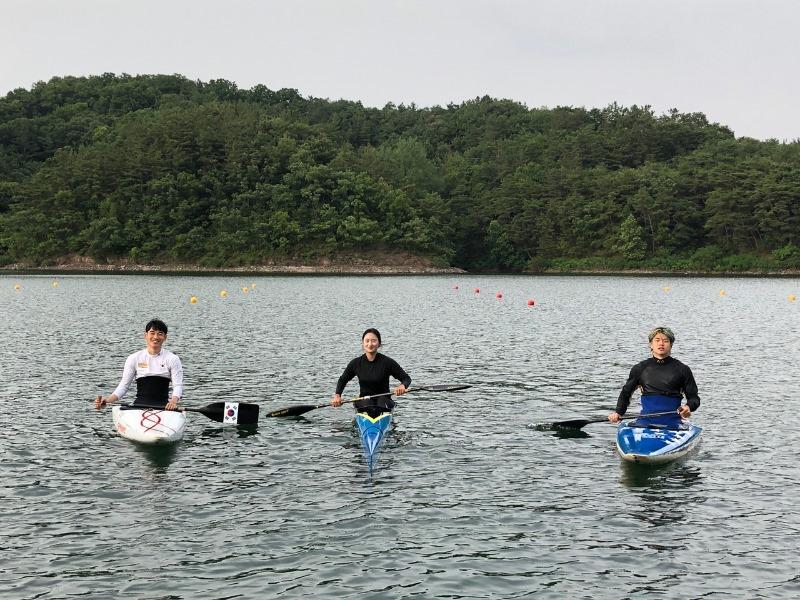2021년 카누부  훈련 사진
